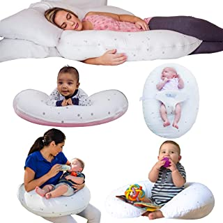 CozyBaby 5-in-1 Pregnancy, Breast Feeding & Baby Pillow. 5 Essential Uses from Pregnancy Pillow to Feeding Pillow & Baby L...