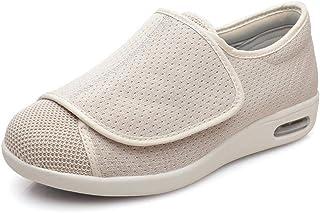 B/H Hommes Femmes Chaussons Diabétiques,Velcro élargit Les Chaussures de gonflement du Pied, Chaussures de Pied diabétique...