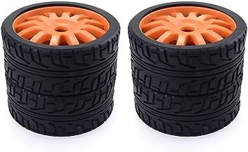 4PCS 1/8 RC Neumáticos de Goma Ruedas de plástico para Redcat Team Losi VRX HPI Kyosho HSP Carson Hobao 1/8 Buggy / On-Road Car (Naranja) (Togames)