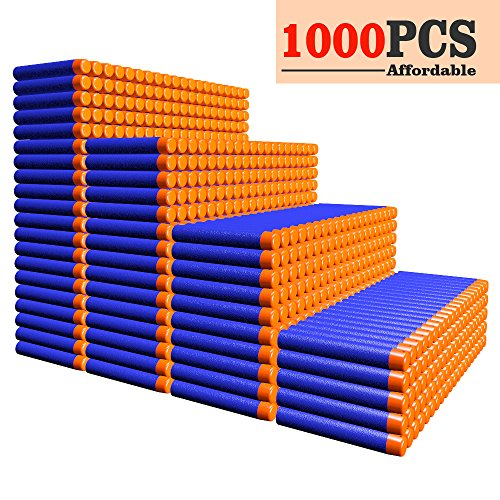 AMOSTING Refill Darts 1000PCS Ammo Bulk Bullets Pack Nerf N-Strike Elite Series – Blue