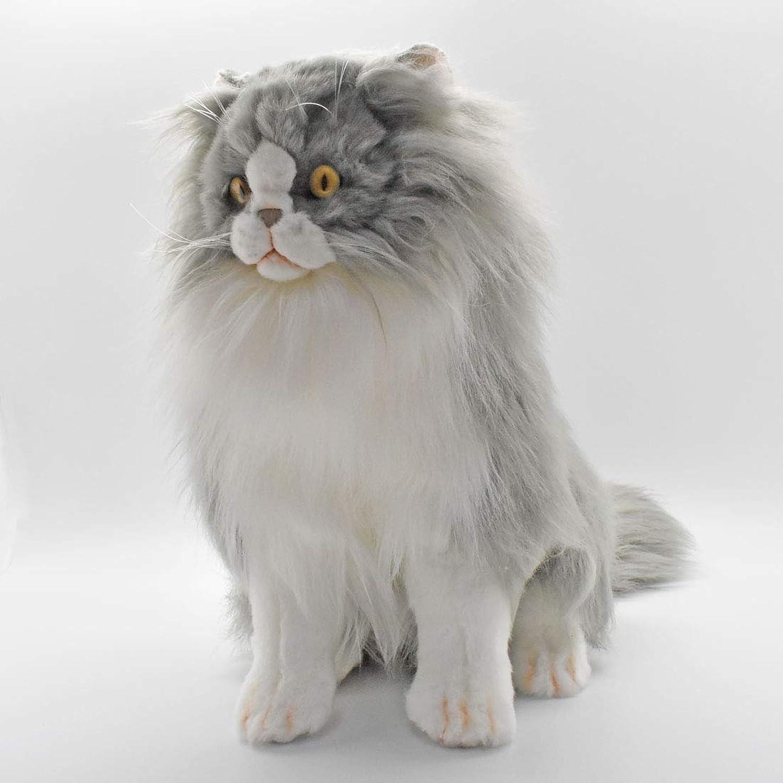 5012 - Hansa Toy - Katze Perser 35 cm sitzend grau wei