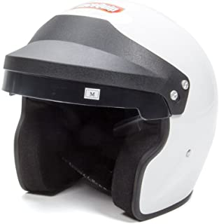 RaceQuip 253117 Gloss White XX-Large OF15 Open Face Helmet (Snell SA-2015 Rated)
