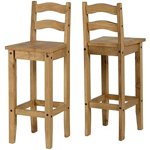 Groovy Wooden Bar Stools With Backs Amazon Co Uk Caraccident5 Cool Chair Designs And Ideas Caraccident5Info