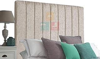 H-Cube meble wyściełane łóżko łóżko Divan zagłówek szenila seria 100 cm montowana na ścianie (kremowy - 6 stóp Super King-44)