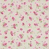 Fabulous Fabrics Canvas Rosalie 2 Natur — Meterware ab