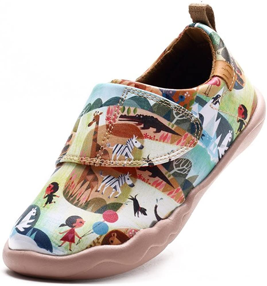UIN Kid's Colorful Zoo Painted Leather Sneaker Multicolored (Little Kid)