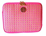 Macbeth Collection Fashionation Elegant Pink and Gold Duchess Laptop Sleeve - Fits up to 10.2'