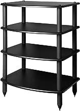 Pangea Audio Vulcan Four Shelf Audio Rack (Black)