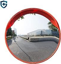 JHDUID Gran Angular para el Camino de Entrada Espejos cóncavos Policarbonato Seguridad Vial Tráfico Espejo Estacionamiento Giros panorámicos de Seguridad,60cm