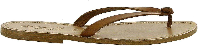 GIANLUCA - L'ARTIGIANO DEL CUOIO Kvinnors 1976bspringaaa bspringaaa bspringaaa bspringaaa läder Flip Flops  outlet butik