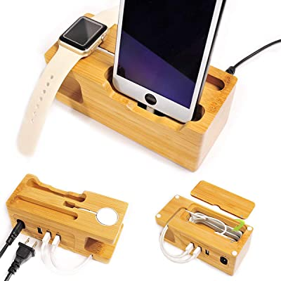 UNCLE JACK Charging Station with Apple Watch 3/...