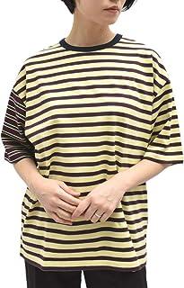 INSCRIRE アンスクリア CUT13 マルチボーダーTシャツ レディース