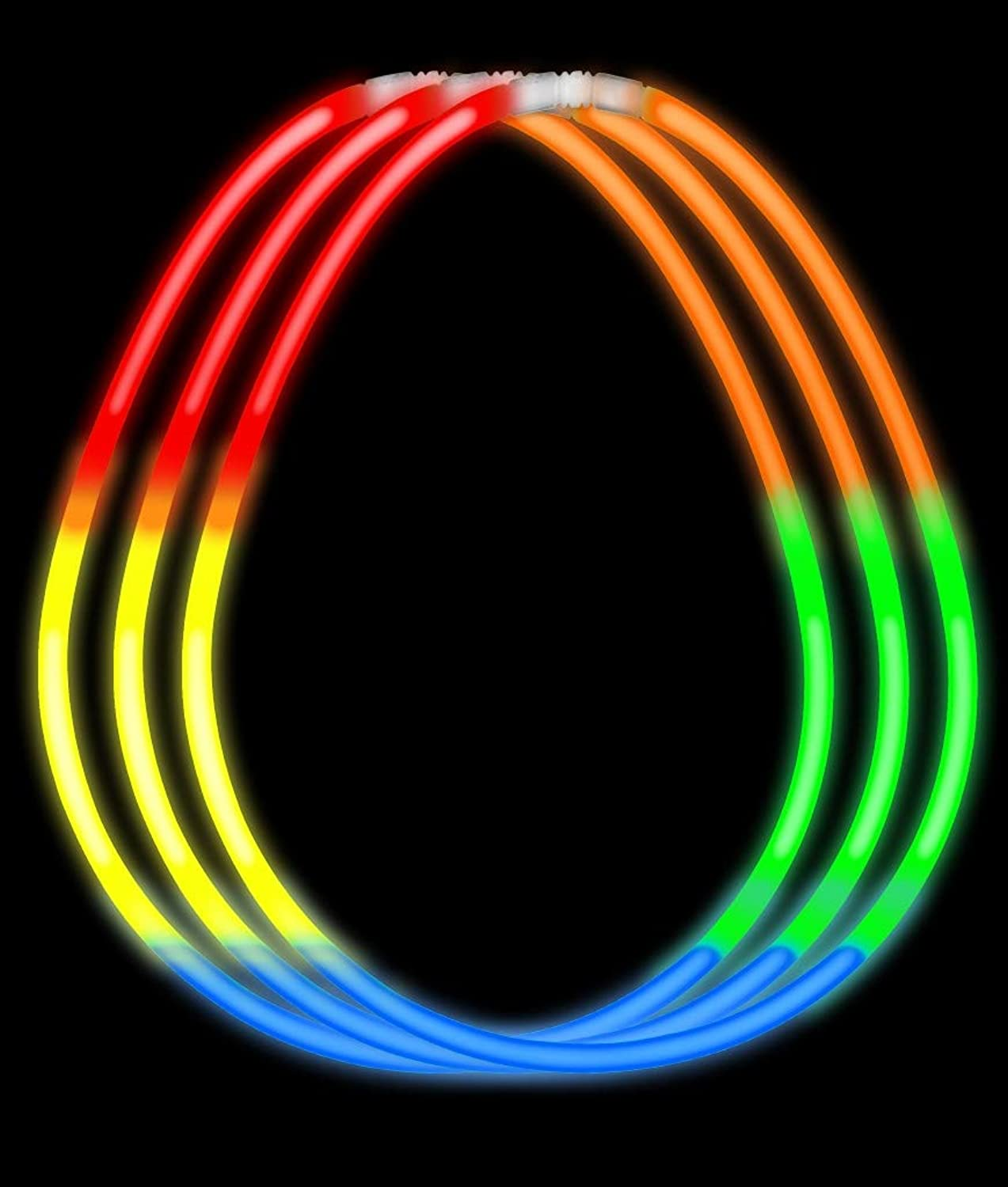 Fun Central I57 22 Inch Glow in the Dark Necklaces - Rainbow