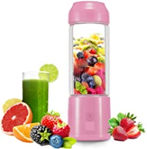 Portable USB Juicer Cup -Suitable for Personal Travel/Household Fruit and Vegetable Smoothie Mixer-USB Rechargeable Small ...