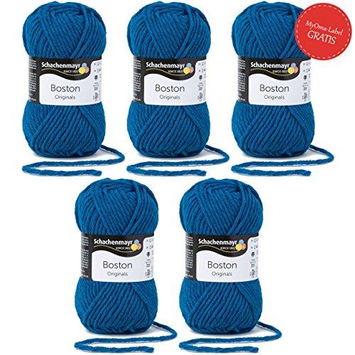 Schachenmayr Boston 9807412-00065 mosaikblau Handstrickgarn