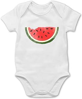 Shirtracer Bunt gemischt Baby - Wassermelone Wasserfarbe - Baby Body Kurzarm für Jungen und Mädchen