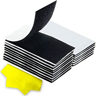 Hook and Loop Strips with Adhesive, Double-Side Mounting Tapes Heavy Duty Sticky Back Fasteners Hanging Strips Interlockin...