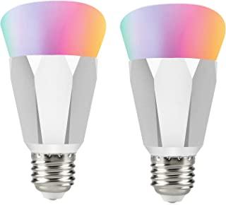 Smart WiFi Light Bulb, E27 Smart LED RGBW Color Changing Light Bulb, Compatible with Alexa and Google Home, Control Anywhere, No Hub Required, Cool White 6000K (2 pcs)