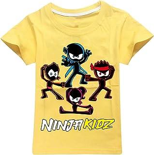 Ninja Kidz Peuter Meisje Zomer Kleding 2021 Tiener Meisjes Kleding Katoen Jongens T-shirt Boetiek Kids Kleding O-hals Jong...