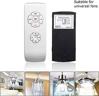 Kit de mando a distancia universal para lámpara de ventilador de techo, receptor de tiempo inalámbrico con batería y soporte de mando a distancia para ventilador de techo y lámpara 110 V/220 V, blanco
