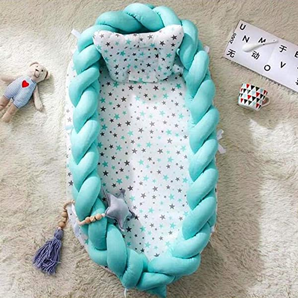 SXFYMWY Portable Baby Bed Multifunction Detachable Comfortable Bassinet Foldable Breathable Babies Cot