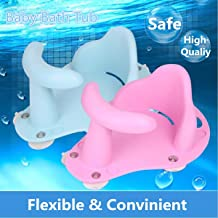 Tub Seat Baby Bathtub Pad Mat Chair Safety Security Anti Slip Baby Care Children Bathing Seat Washing Toys Four Color 37.5cm