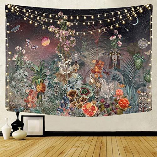 QWERY Tapiz Fondo de Tela Colgante psicodélico nórdico Revestimiento de Pared decoración del hogar Arte de Pared Manta Tapiz Dormitorio Colgante 95 * 73 cm