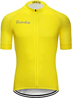 Rsantce New Cycling Jersey Summer Men Short Sleeve Jersey Clothing Breathable Quick-Drying