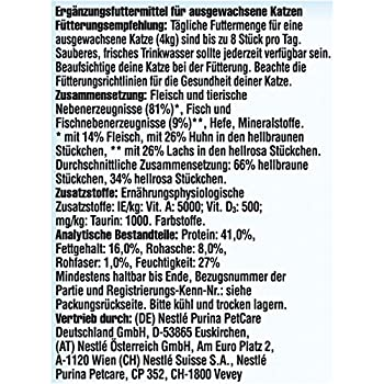 Nestlé Felix Mini-filetti Chat Snack, Lot de 7(7x 40g)