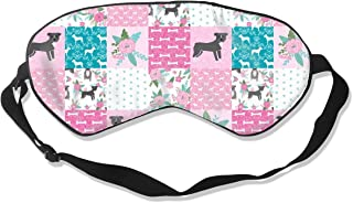 Pitbull Cheater Floral, Top, Patchwork, Dog, Dog D 100% Silk Sleep Mask Comfortable Non-Toxic, Odorless and Harmless,Soft Blindfold Eye Mask Good for Travel and Sleep