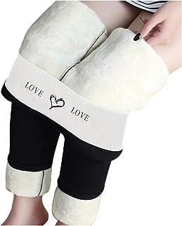 NIANYU Leggings Termici Pantaloni Donna Inverno, Leggings a Vita Alta per Donna, Mutandine Calde Spesse Foderate in Vellut...