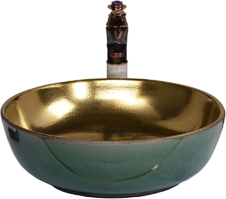 Waschpltze Waschbecken Waschbecken Keramikwaschbecken Hotelwaschbecken Auf Der Theke (Farbe   B. Sink1 Faucet1, Größe   43  13cm)