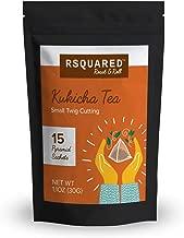Rsquared Kukicha bencha twig tea 15 bags per pouch, Organic Ingredient, Plastic free biodegradable tea bag