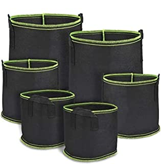 TIMESETL 6Pack Bolsa de Plantas no Tejidas galones 17.7 litros Reutilizable Bolsa de Cultivo de Plantas Bolsa de Patatas B...