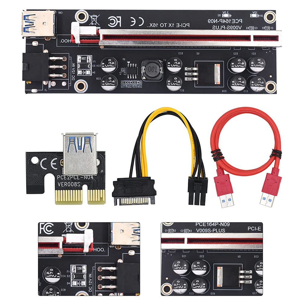 Pci-e Pcie Riser 009 Express 1x 4X Max 65% OFF USB R 16x and Pci Indianapolis Mall Extender 8X