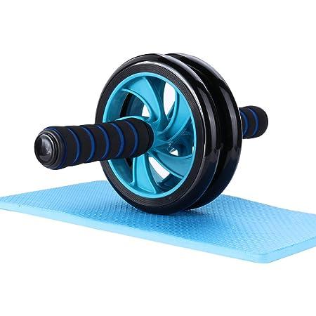 Mitavo roue abdominale, roue fitness, roue AB avec tapis pour les genoux, pour le fitness et l'entraînement des abdominaux / muscles de l'épaule / musles du bras / muscles des cuisses