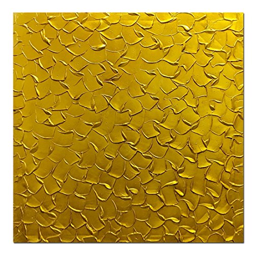 Metuu Paintings, 32X32 Inch Paintings Oil Hand Painting 3D Hand-Painted On Canvas Abstract Artwork Art Wood Inside Framed Hanging Wall Decoration Abstract Painting (Golden)