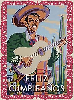 Feliz Cumpleanos - Greeting Cards pkg of 6  Greeting  Feliz Cumpleanos  blank inside