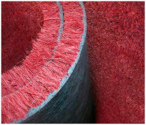 giacomini e gambarova Felpudo de coco burdeos, 100 x 50 cm