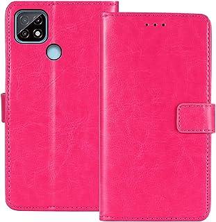 TienJueShi Rosa Book Stand Retro Flip Leather Protector Phone TPU Silicone Case For Realme C21Y 6.5 inch Gel Cover Etui Wa...