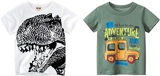 Big Brother 2-PackT Shirts Boys Short-Sleeve Tee Tops Kids Tee Set for 1-7T Baby Boys Dinosaur Truck 5-6X