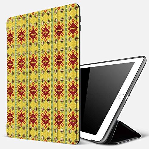 Funda iPad 10.2 Inch 2018/2019,Decoración nativa Americana, patrón étnico Tribal indígena Nativo Decorativo,Cubierta Trasera Delgada Smart Auto Wake/Sleep