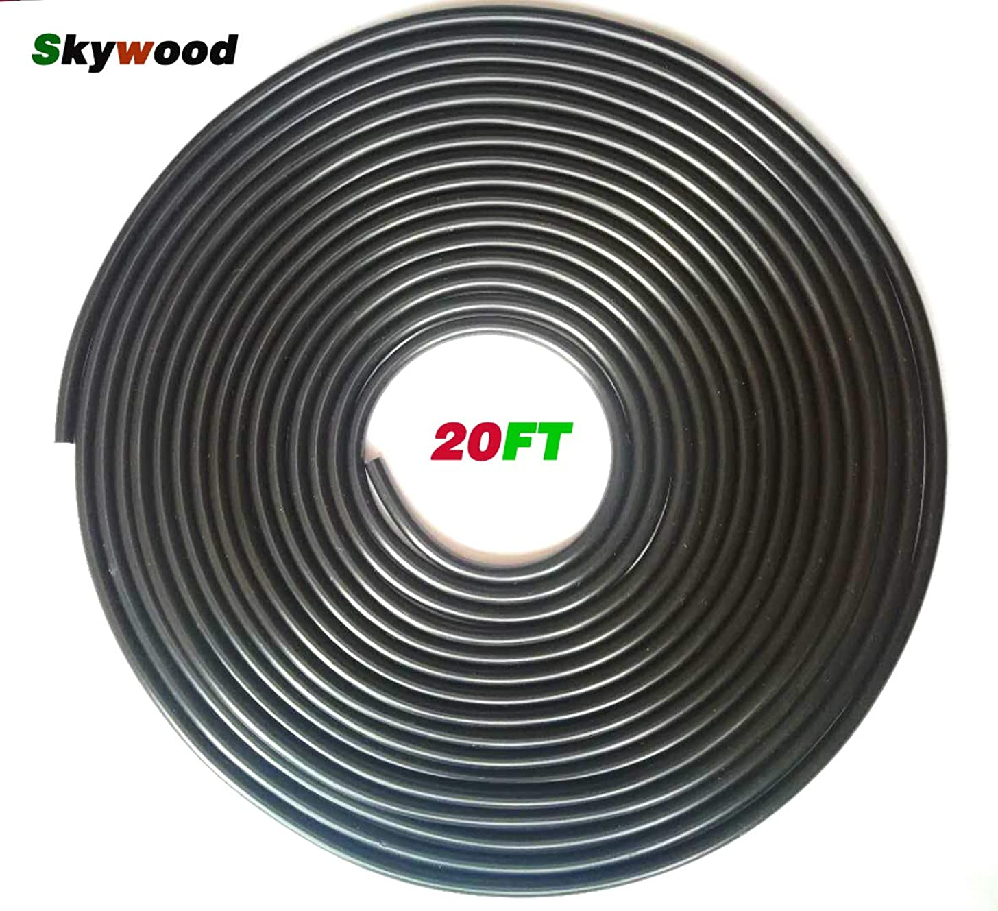 Skywood Aquarium Air Tubing 3/16-Inch,20-FT Flexible for Aquariums, Terrariums, and Hydroponics(Black)
