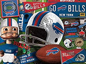 YouTheFan NFL Buffalo Bills Wooden Retro Series Puzzle, Team Colors, 17.75 x 13.25 Inches