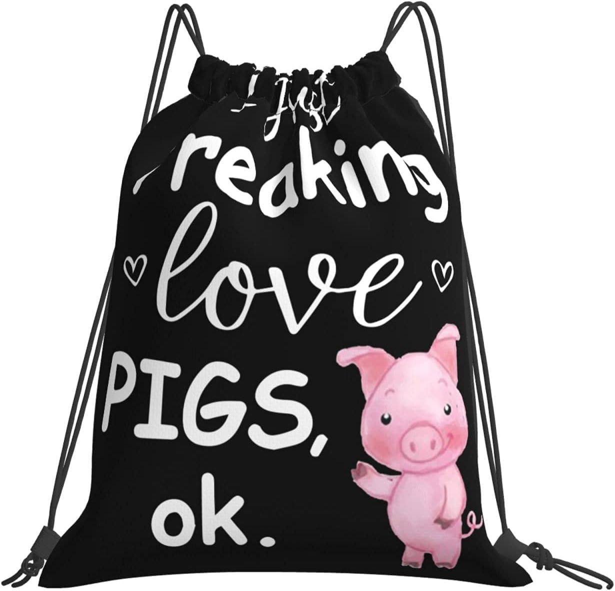 I Gifts Just Freaking Love Pigs Ok Lightweight Bag Men For Drawstring Virginia Beach Mall