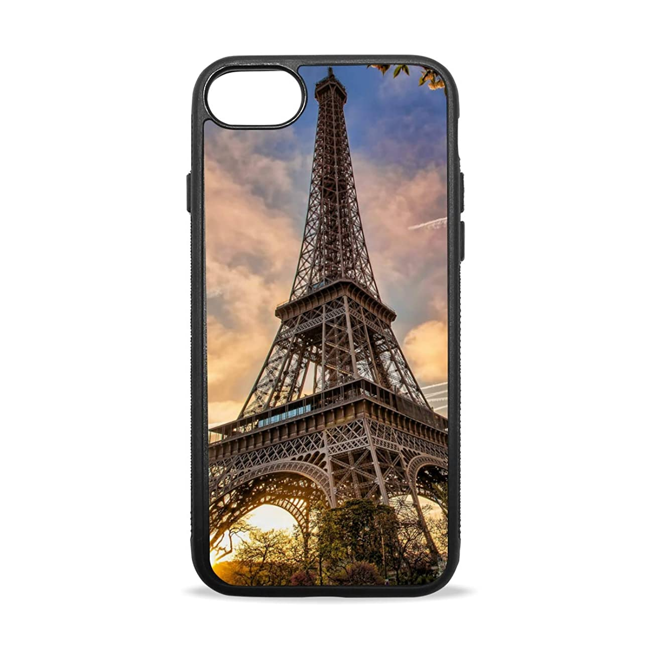 Apple Case Shockproof Slim TPU Protective Cover Travel France Tower Soft Rubber Silicone Cover Phone Case Compatible with iPhone 7/8 iPhone 7/8 Plus [4.7 inch/5.5 inch]