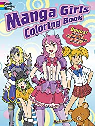 manga girls from mark schmitz - Manga Coloring Book