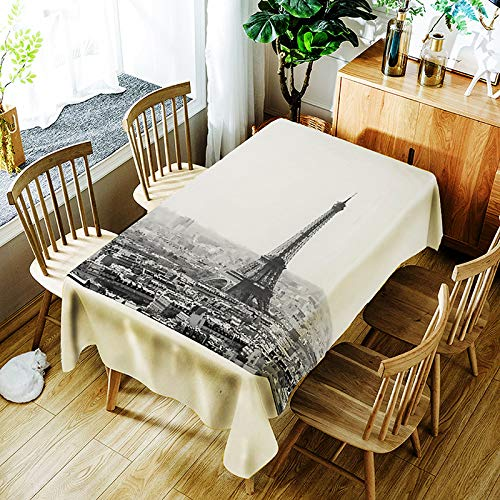 YUEMI Mantel Fashion Easy Poliéster Mantel Rectangular Reutilizable Mantel Lavable Mantel Antifouling Adecuado para Uso Interior Y Exterior 150x260cm