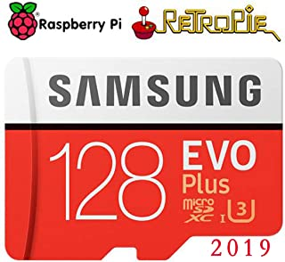 Raspberry Pi Retropie 128GB Preloaded Games MicroSD Card, Fast Class 10, Works with Pi 3 Model B+ (Plus), Model B, Pi 3 Model A+, Pi 2 etc