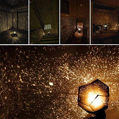 GJ688 Lámpara Proyector Fantasy Sky Map Cosmos Romance Lámpara de luz Gypsophila Sueño romántico DIY Proyección Lámpara de Noche,Yellow